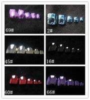 Metallic Toenail Tips (Sold in per package of 70pcs,assorted colors),Acrylic Nail Art Tips,Professional Fake False Nail Tips