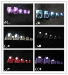 Metallic Toenail Tips (Sold in per package of 70pcs,assorted colors),Acrylic Nail Art Tips,Professional Fake False Nail Tips(China (Mainland))