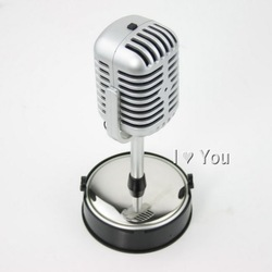 Free Shipping Classical Computer Microphone Stereo Laptop Retro Classic Microphone Mic Mike Wholesale/Retail G10493EM(China (Mainland))