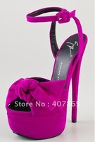 2012 luxurious pink suede leather with heels 17cm platform shoes Party shoe party shoes