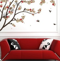Wholesale home stickers,bedroom wall decoration, sitting room TV setting wall sticker,wallpaper JM7075 tree,  Free Shipping!