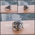 Wholesale Miao Silver vogue character style vintage lucky totem ring 20pc/lot #015