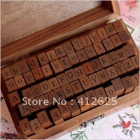Freeshipping! 70pcs/set/ Number and Letter Wood stamp Set/Wooden Box/Multi-purpose stamp/DIY funny work