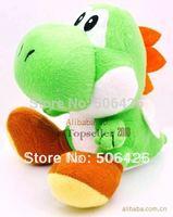 "free shipping retail 1pcs/lot High Quality Soft Plush New Super Mario Bros sitting Yoshi 7""  Doll Soft Toy"