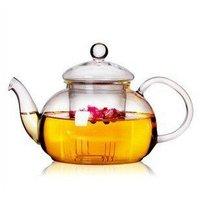Glass Teapot 600ML Three-piece Set,High Temperature Resistance