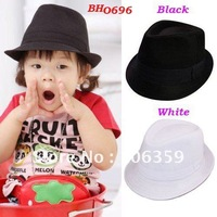 Kids Fedora Hat Baby Top Hat Children Performance Cap Baby Gangster Hats Jazz Cap Infant Headwear 10pcs/lot