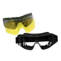 Desert Locust Deluxe Kit Goggle with 2 * Desert Locust Lens-Black