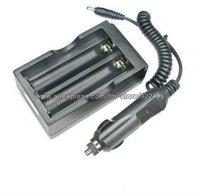 18650 100-240V Battery Wall Charger + Car Adapter