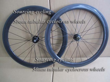 New arrive 50mm tubular cyclocross carbon wheels
