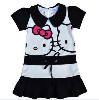 Low Pirce!! 1pc baby dresses hello kitty - Girl's one piece dress petticoats outfits children girls princess dress