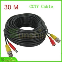 30M Long BNC Video Output Cable for CCTV and CCTV Camera Surveillant System Free Shipping