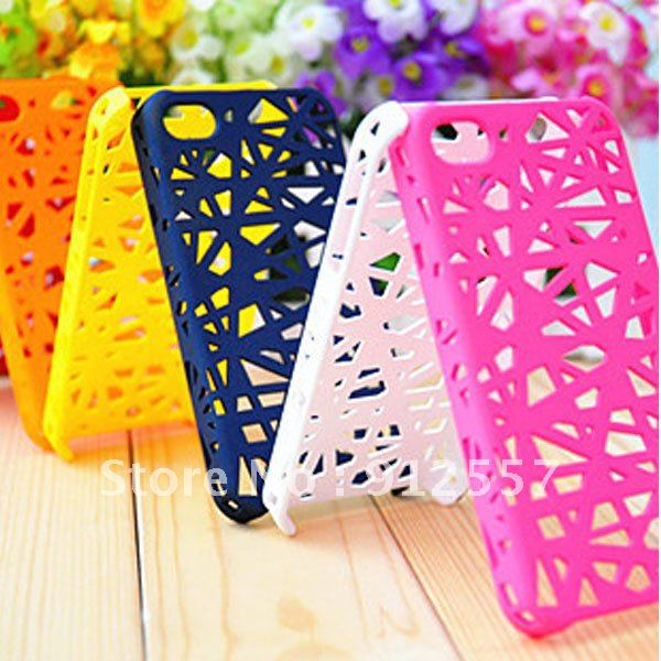 1PC New Bird Nest Mesh Pattern Matt Skin Hard Case Cover for iPhone 4 4G 4S+free shipping(China (Mainland))
