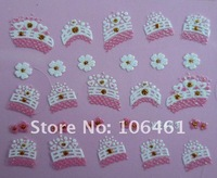 Free shipping Korea Design 3D Glitter Nail Art frence nail sticker  xf423