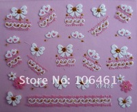 Brand new 3D Nail art Sticker/decal for  Nail Patch/decoration XF-426 free shipping