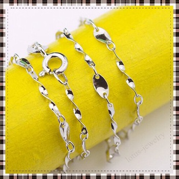 Free Shipping! 2012 fashion silver chain necklace jewelry of 100% solid genuine 925 sterling silver chain of necklace jewelry