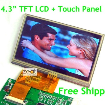 4.3 inch TFT LCD Module + Touch Screen Panel 480 x 272 Dots Free Shipping