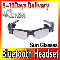 New Glass black Sunglasses MP3 Sport Sun Glasses MP3 Player Bluetooth Function  Headset headphone Black Fashion Style
