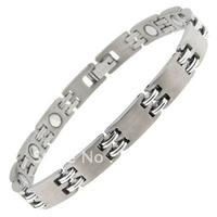 Titanium Magnetic Bracelet Silver Free Resizing&free shipping