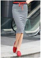Stripe pencil midi stretchy women cotton skirt/1 piece Free shipping retail wholesale women cotton pencil skirt/ FZ0772