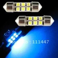 Free shipping festoon 6 smd 1210 White 50pcs/lot 31mm/36mm LED MAP DOME LIGHT FESTOON WHITE LAMP 3021 3022 3175 DE3425