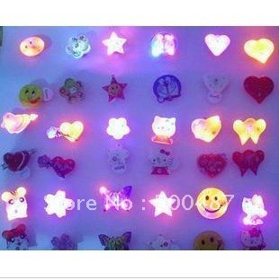 Led Flash Brooch light up badge led body lights party decorations 100pcs/lot wholesale free shipping