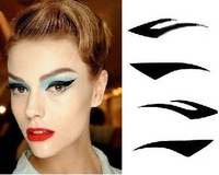 free shipping  100SETS=400pairs=800pcs 4 pairs per pack Vintage Eye liner Sticker Shadow Sticker Smoky Eyes Sticker