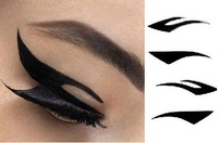 Hot Sell 100SETS=400pairs=800pcs 4 pairs per pack Vintage Eye liner Sticker Shadow Sticker Smoky Eyes Sticker