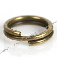 Fashion New Key Ring Chains antique bronze Key Chain Rings Copper Open Jump Rings Loop Findings 4500pcs 160433