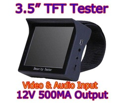 CCTV Tester Security Camera Test 3.5&quot; TFT LCD Video Monitor 12V OUTPUT(China (Mainland))
