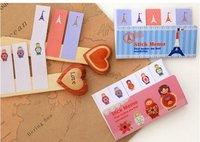 D36-170 Free Shipping / Cute cartoon series 5 stripe sticky memo pad / Notepad