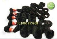 "mix length 4pcs/lot #1b 16""~26"" body wave free shipping super best quality  virgin Peruvian  hair"