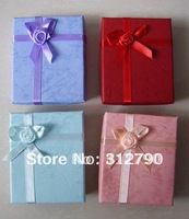 -- new2012, mix color paper box gift jewelry box 6.5*7.9*2.2cm,wholesale,48pcs