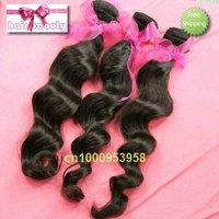 "hot sale mix length free shipping Brazilian virgin hair 3pcs/lot 100% virgin  remy human hair wefts body wave #1b 16""~26"""