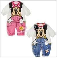 New arrival babysuits  fit 0-2 yrs infant one pieces rompers 6 pieces / lot  2 colors 3 size  80 90 95 can do sleeping bags