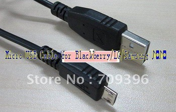 100 PCS /LOT,Micro USB Cable for Blackberry/LG/Samsung Phones fast shipping