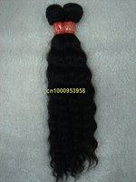 "free shipping 4pcs/lot Indian deep wave hair weaving 100%remy huaman 5A virgin hair color #1b 16""~30"""