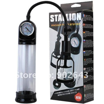 Free shipping men's sex toys, penis pump,penis enlargement with Pressure gauge