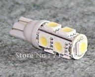 free shipping factory wholesale hot selling 10pcs New T10 SMD 5050 9 Leds White Lamp  Wedge Car LED Bulb