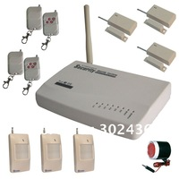 Free shipping+Eglish instuction+Voice-prompt Home GSM Alarm System(LS-GSM-004)