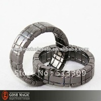 Free Shipping! Himber Ring Black Cool Style ,2pcs/lot ,New Year wholesale magic tricks