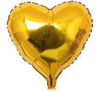 18-inch gold the monochromatic heart-shaped aluminum balloons