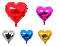 18-inch monochrome heart-shaped aluminum balloons, decorative balloons