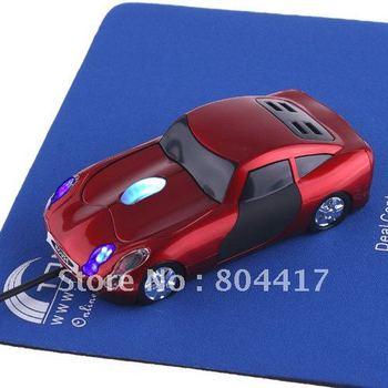 Promotion Sale!!! Free Shipping New Sale1Pcs Red 800dpi 3D Car Shape Optical USB Mouse Mice for PC Laptop+Wholsale