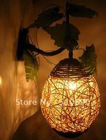 110-240V FREE LED BULB LY-BD-001 RATTAN ART RURALCOUNTRYSIDE DESIGN CORRIDOR / RESTAURANT / BEDROOM WALL LAMP
