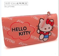 Ms. Hello Kitty wallet / pink cortex Korean version of the long section of the wallet