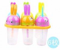 [CPA Free Shipping] Wholesale 6pcs/set DIY Ice Cream Sticks Box / Cute Rabbit Popsicle Box (SX-87)