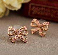 Серьги-гвоздики Retail, heart shape stud earring, GOLD / SILVERY 2 colour available