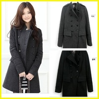 Женские толстовки и Кофты 2012 women hoodie, long top pullover, stand collar spring garment coat, jacket, black, gray, green / T502