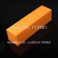 10PCS/Lot Orange Acrylic Nail Art Tips Buffer Buffing Sanding Files Block Pedicure Manicure Care Tool