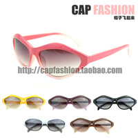 12 star multicolour box fashion cat-eye box sun glasses women's sunglasses summer sunglasses